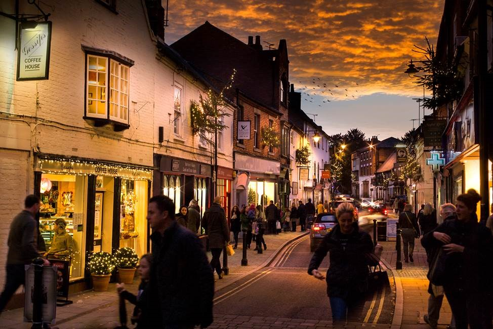 Late night shopping in Southwell